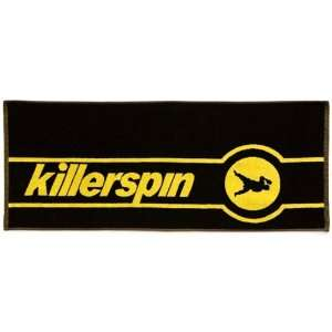 Killerspin Table Tennis Tournament Towel Black/Yellow 38 X