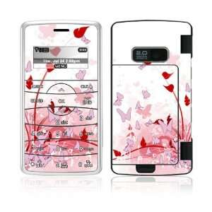 Pink Butterfly Fantasy Decorative Skin Cover Decal Sticker for LG enV2