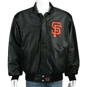 San Francisco Giants Leather Script Jacket Sports