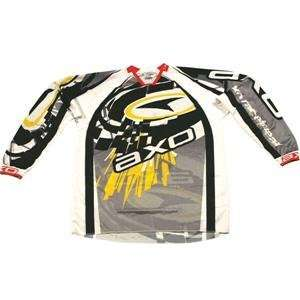 AXO Sport Jersey   Small/Silver/Yellow Automotive