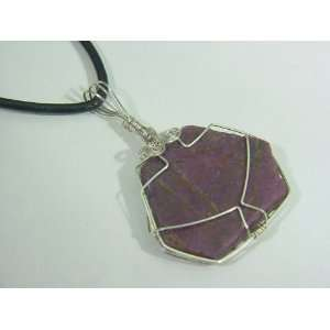 Wire Wrapped Genuine Unpolished Ruby Specimen Pendant Necklace Jewelry