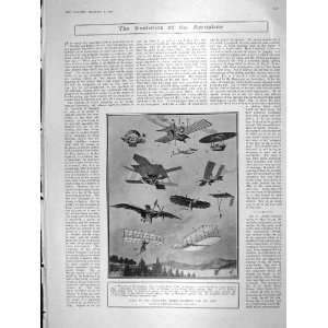 1906 FLYING MACHINES AEROPLANE LANGLEY MOTOR MICHELIN