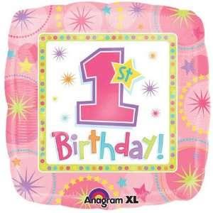 One Derful Birthday Girl 18 Inch Foil Balloon Toys & Games