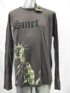 SMET BY CHRISTIAN AUDIGIER MENS L/S T SHIRT STAR LIBERTY SZ XL,XXL