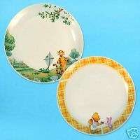 2PC LOT DISNEY WINNIE POOH TIGGER Ceramic Dinner Plate