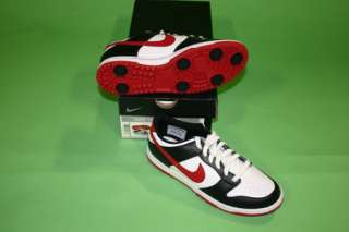 Brand New Nike Dunk Junior Boys Golf Shoes White/Black/Red Size 7