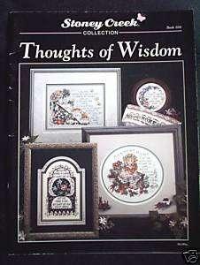 Stoney Creek Cross Stitch Book   Thoughts of Wisdom
