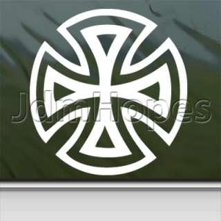 Iron Cross Sign Decal Biker Car Truck Window Sticker