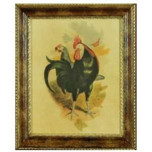 com Vintage Country Kitchen Artwork, Print of Black and White Rooster