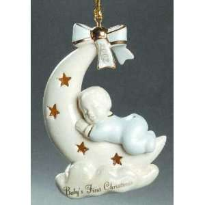 Lenox 2002 Baby Boy Christmas Ornament New in Box