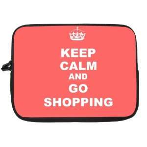 Keep Calm and Go Shopping   Tropical Pink Color Laptop