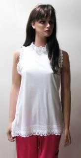PRADA White LACE Long Ltd Ed Top Feminine Sexy Lg MPRS