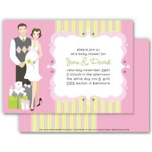 com Girl Baby Shower Invitations   Presenting Pink New Mom & Dad Baby