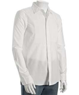 Marc by Marc Jacobs white pintucked cotton tuxedo shirt   up