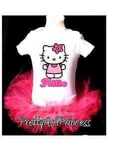 1st BIRTHDAY HELLO KITTY TUTU OUTFIT PINK DRESS