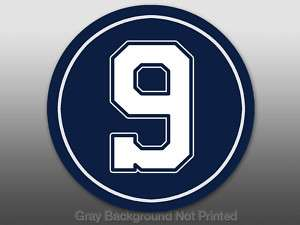 Round 9 Tony Romo Sticker  decal Dallas Cowboys Player