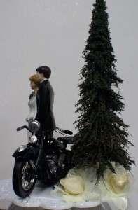 Harley Davidson Motorcycle Wedding Cake Topper OLDER