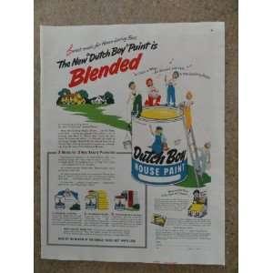 Dutch Boy house paint,Vintage 40s full page print ad (dutch boy kids