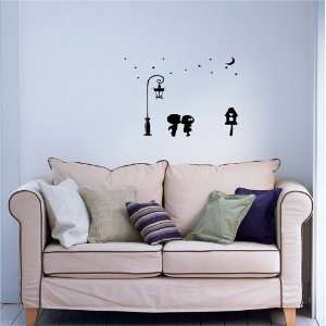 Art Mural Cartoon Kissing Couple Love Cute Design A581