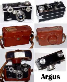 Vintage Argus C3 35mm Camera in Leather Case