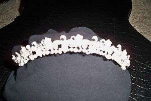 Davids Bridal Pearl/Crystal Style Tiara