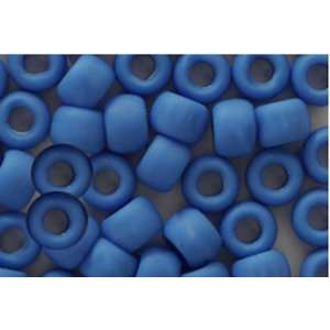 MATTE FROSTED OPAQUE BLUE CROW BEADS PONY BEADS: Arts