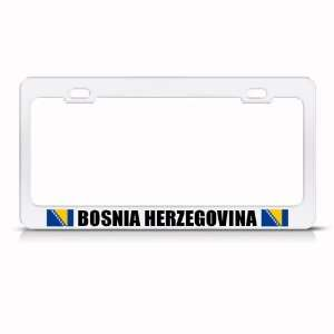 Bosnia Herzegovina Flag White Country Metal license plate