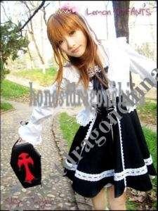 Gothic Lolita Dress cosplay costume Handmade A2