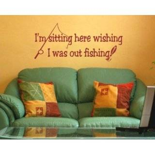One fine fisherman lives hereFunny Fishing Wall Quotes Words