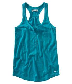 Aeropostale womens henley pocket tank top cami t shirt