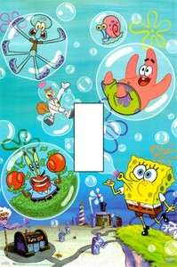 SPONGEBOB BLOWING BUBBLES Single Light Switch Cover
