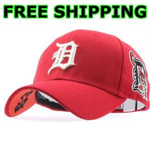 DETROIT TIGERS Flex Fit Baseball Cap Hat   Red