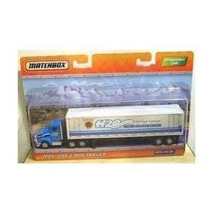 2010 Matchbox Super Convoy   MBX CAB & BOX TRAILER H2O