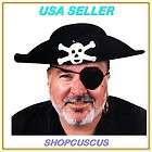 Morris Costumes Ga02xl Black Felt Pirate Hat With Clips