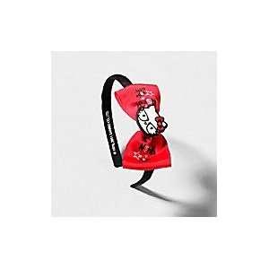 Hello Kitty Red & Black Bow headband ships w/FREE Gift