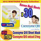 Beauty Coenzyme Q10 Facial Essence Face Mask Pack 30 Sheets Skin Care