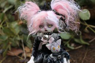 OOAK goth fairy tale monster were cat posable horror A.Gibbons Lil