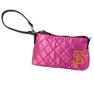 MLB San Francisco Giants Pink Quilted Wristlet Sports