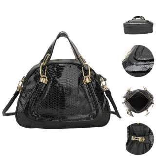 Python Snake Skin PU Leather Shoulder Bag Handbag Cross Body Messenger