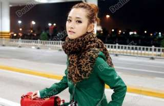HOT Fashion long Wide Larger Animal Leopard Print Shawl Scarf Wrap