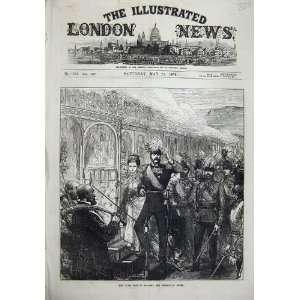 1874 Czar Visit England Emperor Dover War Army Print