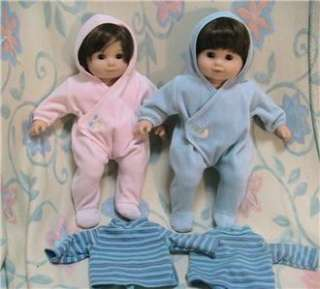 American Girl Bitty Baby Twins Set w Sled, Double Stroller, Snowsuits