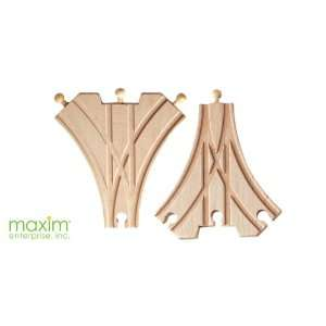 Maxim Toy Train Wooden Double Curved Switch (2 Pieces