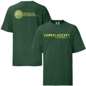 Nike Oregon Ducks Green Basketball Practice T shirt
