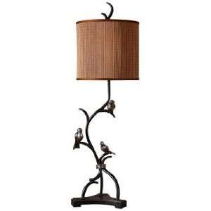 Uttermost Three Little Birds and Bamboo Buffet Table Lamp