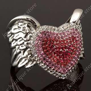 Swarovski crystal rhinestone Angel Wing fashion jewelry cuff bracelets