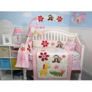 SoHo Day At Zoo Baby Crib Nursery Bedding Set 13 pcs included Diaper