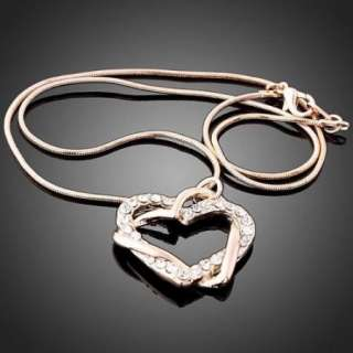 ARINNA Swarovski Crystal heart 18KGP Necklace pandant