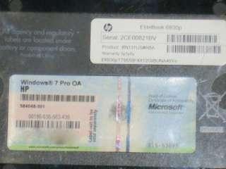 HP EliteBook 6930p Laptop Core 2 Duo 2.66GHz 4GB Ram No hard Drive