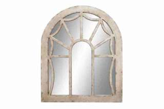 French Country Distress Wood Wall Mirror